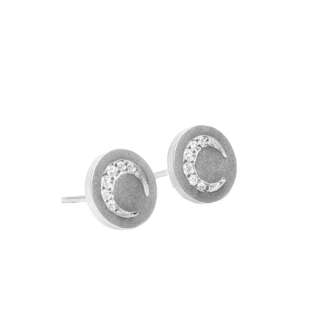 Cleo Silver Moon Post Earring