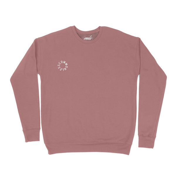 Mauve Drop Shoulder Crew