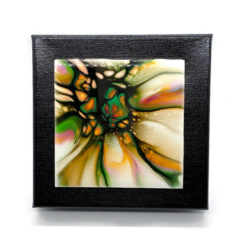 Fluid Art Painting Tile Canvas Wall Hanging