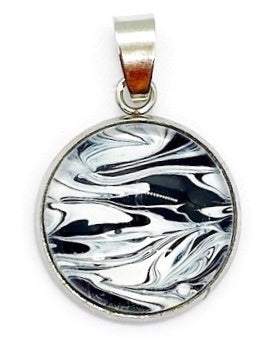 Black and White Painted Pendant