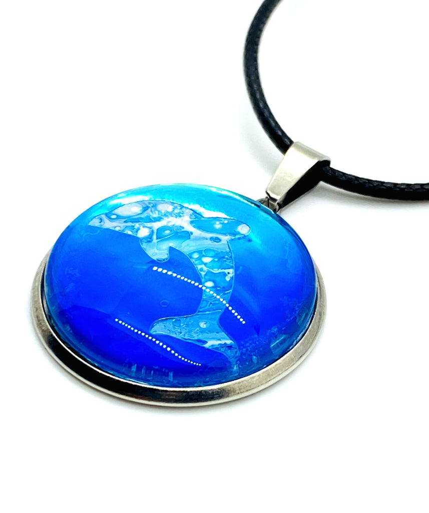 Painted Dolphin Sea Life Beach Necklace