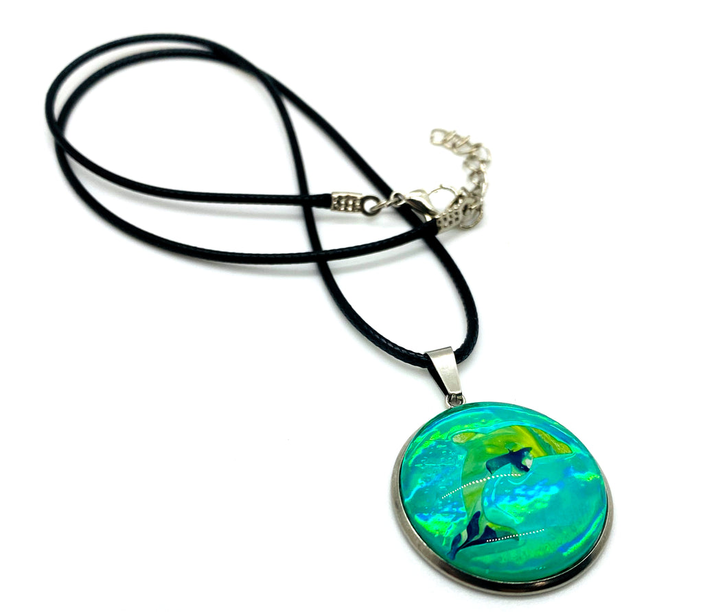 Painted Dolphin Sea Life Necklace