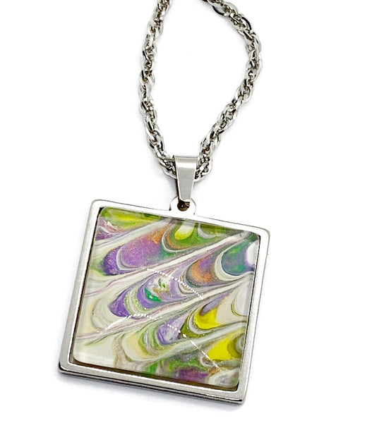 Artisan Painted Pendant Necklace