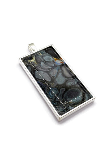 Artisan Painted Pendant Rectangle
