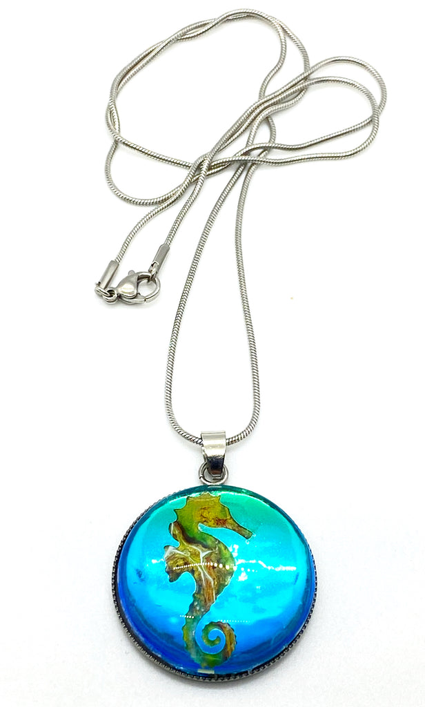 Coastal Necklace Painted Jewelry