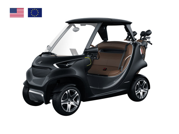 Coolest Golf Car Ever Black Tinted Visible Carbon