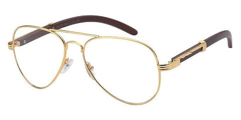 Carter Aviator Glasses (Gold)