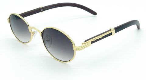 Oval Carter Sunglasses (Gold)