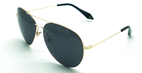View Aviator Sunglasses (Black/Gold)
