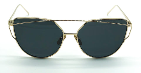 Wire Cat Sunglasses (Gold)