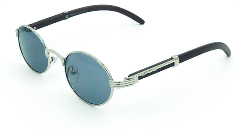Oval Carter Sunglasses (Silver)