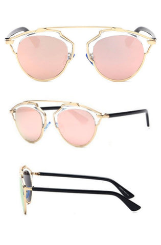 Belvue Sunglasses (Pink Gold)