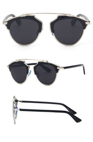 Belvue Sunglasses (Silver Black)