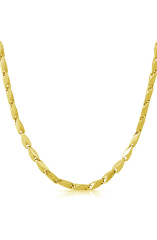 Bullet Link Necklace (Gold)