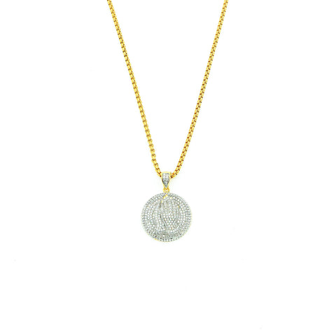 Let Us Pray Necklace (Gold)
