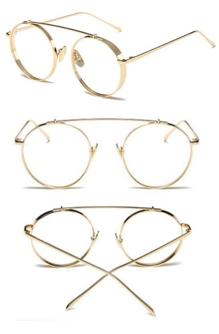 Casette Glasses (Gold)