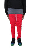 Checker Track Pants (Red)