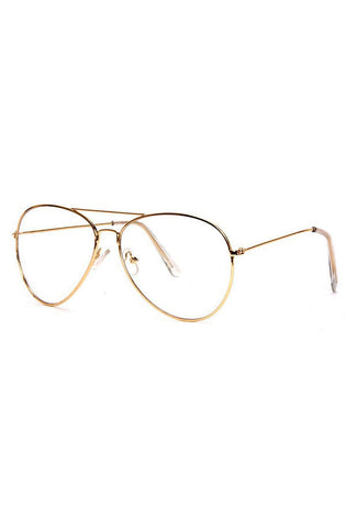 Clear Glasses (Gold) - RoialBijouxx