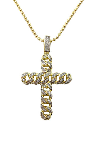 Cuban Cross Necklace - RoialBijouxx