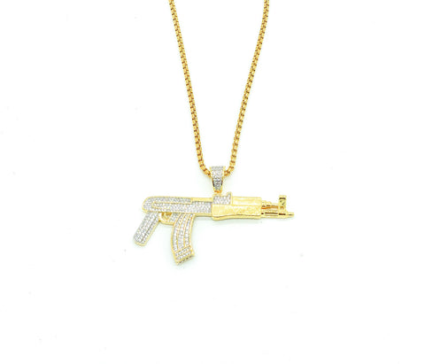 Diamond AyKay47 Necklace (Gold)