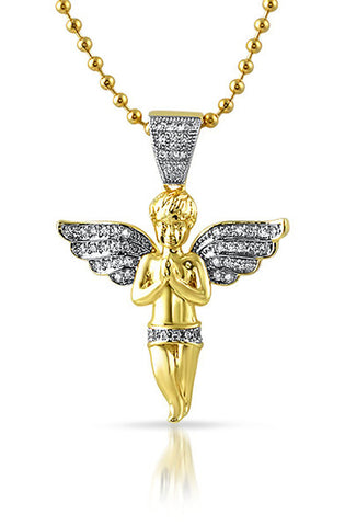 Diamond Angel Necklace - RoialBijouxx