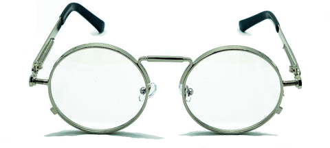 Sherlock Glasses (Clear Silver)