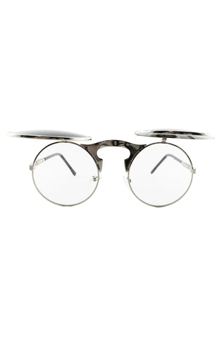 Flip Up Sunglasses (Silver) - RoialBijouxx