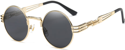 Notorious Sunglasses (Gold/Black Lens)