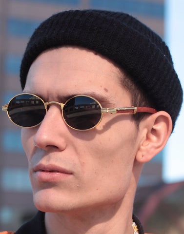 Oval Carter Sunglasses (Brown)
