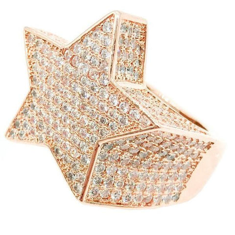 3D Star Ring (Rose)