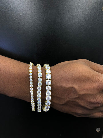 4/6/8 mm Tennis Bracelet (Gold)