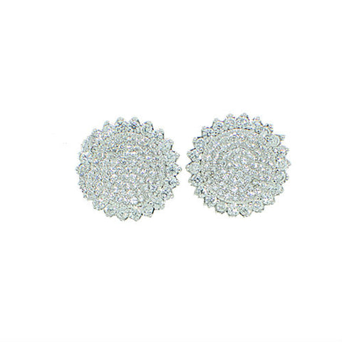 Ice Crystal Earrings (Silver)