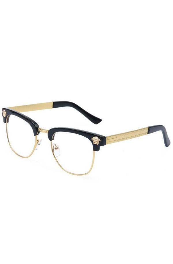 Medusa Glasses Clear (Black) – RoialBijouxx e8fae2581