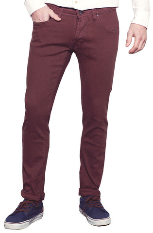 Denim Slim Fit (Merlot) - RoialBijouxx