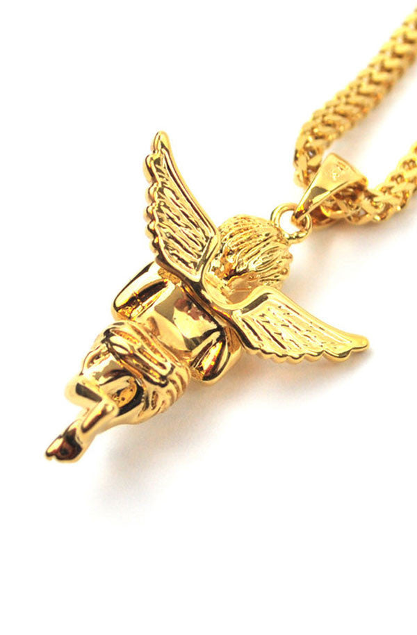 Micro Angel Necklace - RoialBijouxx
