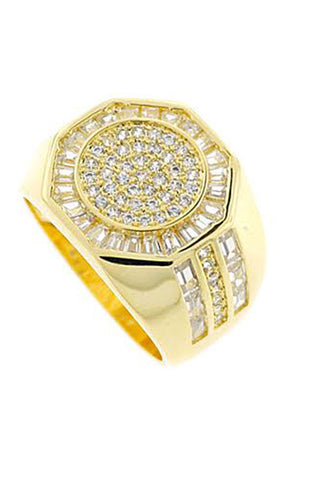 Octagon Ring (Gold) - RoialBijouxx