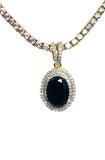 Onyx Oval Tennis Necklace