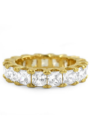 Princess Cut Ring (Gold) - RoialBijouxx