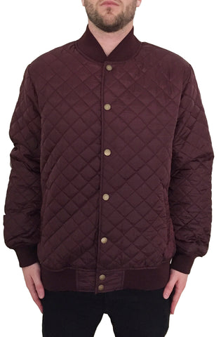 Quilt Bomber Jacket (Wine)