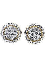 Octagon Earrings (Gold)