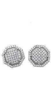 Octagon Earrings (Silver)