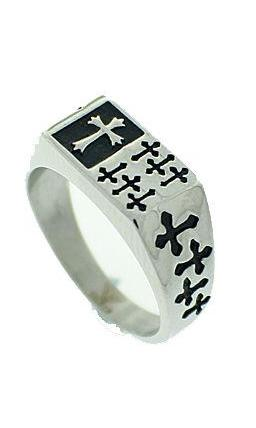 Bone Cross Ring