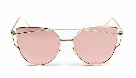 Wire Cat Sunglasses (Pink)