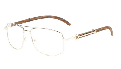 Square Carter Glasses (Silver)