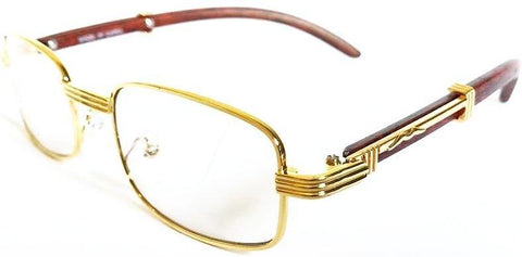 Square Carter Glasses (Gold)