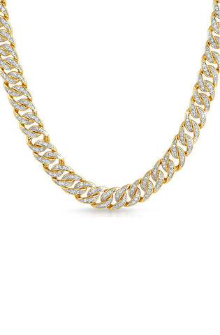 Diamond Cuban Necklace (Medium) - RoialBijouxx