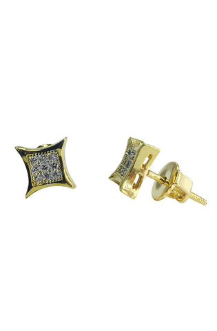 Throwing Star Earrings