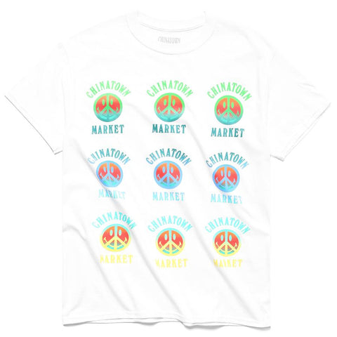 PEACE SMILEY GRADIENT T-SHIRT (White)