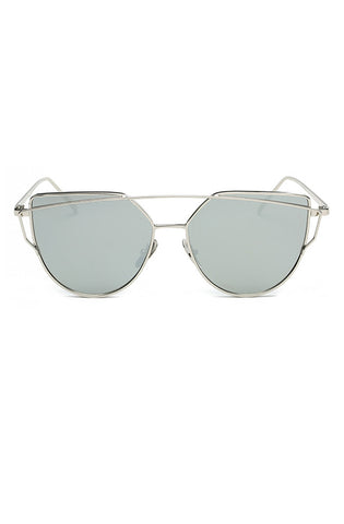 Wire Cat Sunglasses (Dark Silver)