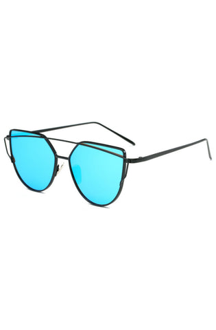 Wire Cat Sunglasses (Blue)